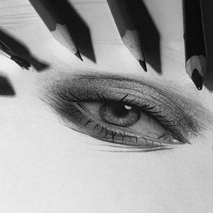 طراحی تابلو با سیاه قلم