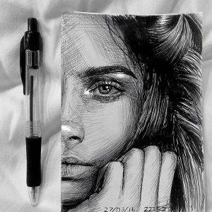 در دوره سیاه قلم خلاق باشید