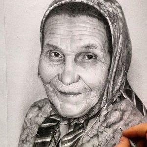 آموزش طراحی چهره پیر