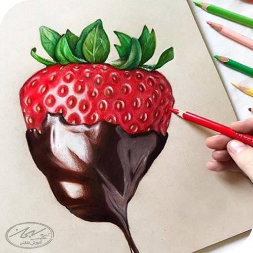 ترکیب رنگ در مداد رنگی با حلال
