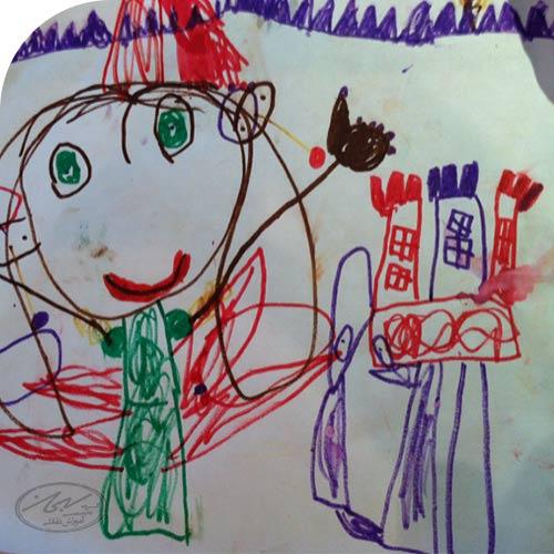 نقاشی کودکان در 4 سالگی