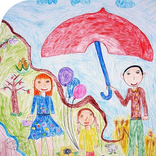 نقاشی کودک در 6 سالگی