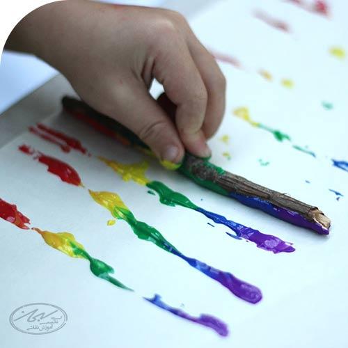 نقاشی با چوب