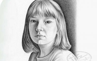 طراحی چهره در تکنیک سیاه قلم