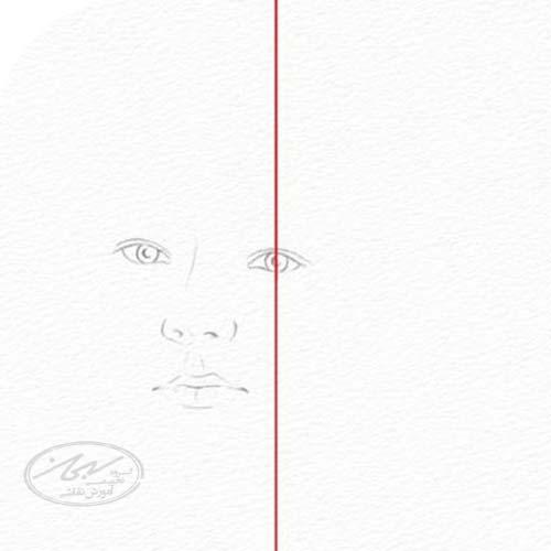 مرحله ی اول، استفاده از خط، شکل و تناسب در طراحی چهره با مداد