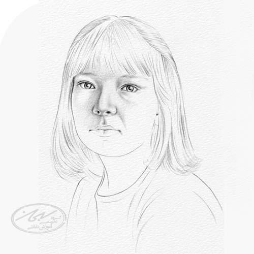 سایه زدن بینی در طراحی چهره با مداد