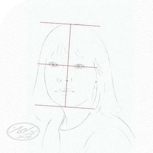 ایجاد نسبت های صحیح در طراحی چهره با تکنیک سیاه قلم